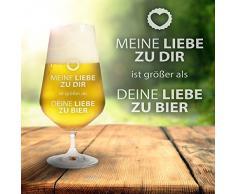 F/üllmenge: 0,4l Gravierte Pilstulpe Personalisiert mit Namen Krone AMAVEL Bierglas mit Gravur Pilsglas f/ür Biertrinker