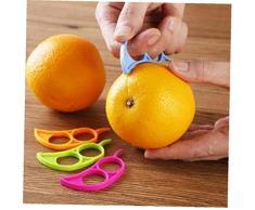 Case Cover Kunststoff-orange Schäler Zitrone Grapefruit Frucht-Schneidmaschine Opener Cutter Küchenhelfer Bei Random 7.4x3.4cm 1PC