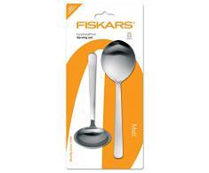 Fiskars Servierbesteck, 2-tlg., Gesamtlänge: 30 cm, Qualitätsstahl, Silber/Matt, Functional Form, 1002959