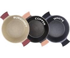 JOLTA® / SCHAFER 6 tlg Topfset Marmor Granit Beschichtigung Kochtopfset Kochtopf Set Pfanne Topf