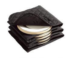 Daewoo Inste1763 200W Wärmer 12 Wärmer 70°C - 5 Falten passend für je 2 Teller - Überhitzungsschutzfunktion - aufgeklappt Größe 198 x 30 cm - grau/schwarz