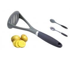 Küchenhelfer - Spaghettilöffel, Soßenlöffel oder Kartoffelstampfer - Spaghettiheber - Kartoffelpresse - Kochlöffel, Ausführung:Kartoffelstampfer