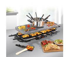 GOURMETmaxx Raclette und Fondue Set (1,600 Watt, Elektro Raclette-Grill, Fondue, 12 Personen)
