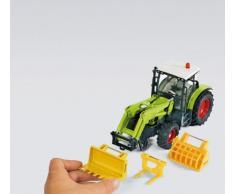 SIKU 7070, 6-teiliges Frontlader Zubehör-Set, 1:32, Gelb, Passend für alle SIKU Traktoren mit Frontlader im Maßstab 1:32