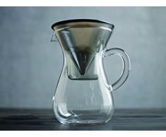 Kinto Kinto Slow Coffee Karaffe Set mit Filter, 300ml. Kein Papierfilter notwendig