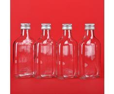 12 Leere Glasflaschen 200 ml mit Schraubverschluss TASC 0,2 Liter l Likörflaschen Schnapsflaschen Essigflaschen Ölflaschen von slkfactory