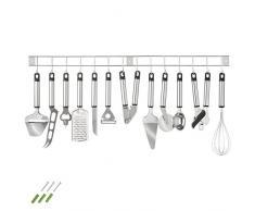 TecTake® Küchenbesteck Küchenhelfer Hängeleiste Küchenutensilien Kochzubehör Set 13teilig