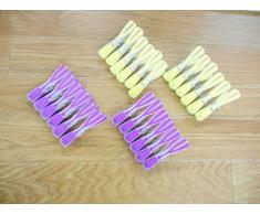 WENKO 3707506100 Wäscheklammer Arrow - 24-teilig, Kunststoff - Polypropylen, Mehrfarbig