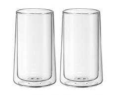 WMF doppelwandige Latte Macchiato Gläser-Set, Thermoglas, 2-teilig, hitzebeständig, spülmaschinengeeignet, V 270ml, H 13cm