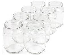 720 ml Einweckgläser mit Deckel weiß Einmachgläser Vorratsgläser Einmachglas Weck (Menge: 8 Stück)