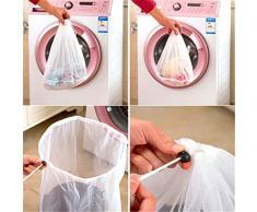 Winkey Wäschenetz zum Waschen von empfindlicher Wäsche, Nylon, weiß, Large