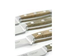 Güde Hackmesser ALPHA-EICHE Serie Klingenlänge: 18 cm Fasseichenholz, E840/18 Küchenmesser - Geschmiedet - Solingen, Messer - groß - scharf - hochwertig