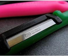 Solingen 4 Sparschäler für Rechts- und Linkshänder Spargelschäler Obstschäler Kunststoff gem. Farben extra scharf
