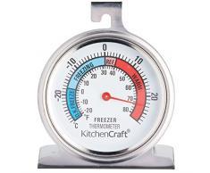 KitchenCraft Kühlschrank- Thermometer, Edelstahl