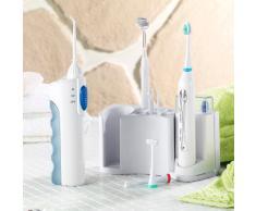 newgen medicals Schallzahnbürste: Zahnpflege-Set mit 10 Aufsätzen, Spiegel & Munddusche (Mundpflege Center)