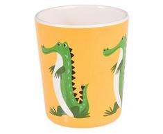 dotcomgiftshop Kinderbecher 26521 Melamin Colorful Creatures Krokodil