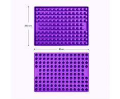 Collory Silikon Backmatte   2cm Halbkugel Backform für Hundekekse Hundeleckerlies   Hitzebeständig 240°C   40x28.5   Lebensmittelecht (BPA-frei)   Pralinenform   Antihaftend