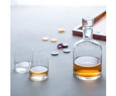 Leonardo Whisky-Set Ambrogio, Whisky-Gläser und Karaffe im edlen Look, exklusives Bar-Set im klassischen Design, 3-teilig, 060003