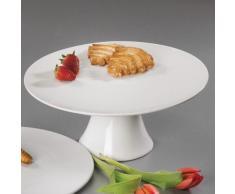 Sandra Rich 360144 Tortenplatte, Edelstahl, weiß, 41 x 31 x 16.4 cm