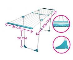EUROSERV ✓ Standtrockner Premium ✓ Teleskop ✓ Extensive Wäscheständer SOLID ✓ Wäschetrockner mit extradicken XL-Stäben ✓