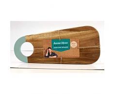 Jamie Oliver Antipasti-Servierbrett, Brett für Antipasti, Servierbrett, Brett zum Servieren, Eichenholz, 45x19cm, 554969