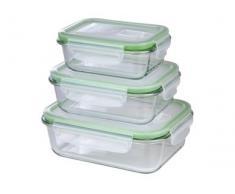 GOURMETmaxx 06527 Glas-Frischhaltedosen Klick-it   6 Teile   Geeignet für Mikrowelle, Gefrierschrank und Spülmaschine   Transparent