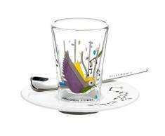 Ritzenhoff 2600002 Espressoglas mit Untertasse Chiera F11