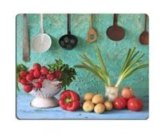 luxlady Gaming Mousepad Bild-ID: 26954222 vairious Gemüse und Kitchen Retro Küchenutensilien