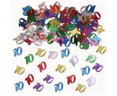 Folat 05309 - Tischkonfetti Zahl 10 - bunt - 1 x 14 gr.