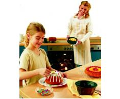 Dr. Oetker Springform mit Flach- und Rohrboden Ø 18 cm, Kuchenform mit Flachboden, runde Backform aus Stahl mit Antihaftbeschichtung (Farbe: schwarz), Menge: 1 Stück