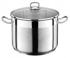 10 Liter Kochtopf mit Glasdeckel Suppentopf Topf Eintopf Universaltopf Silber INDUKTION (10 Liter) von SCHOBERG