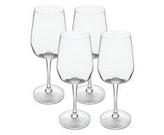 Jamie Oliver Barware Weißweingläser-Set, 4-TLG, Weißweinglas, Weißwein Glas, Weinglas, Glas, Transparent, 440 ml, 554239