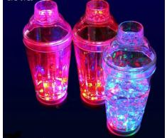 LED Cocktailshaker, Cocktail Mixer, Shaker für Cocktail multicolor bunt blinkend