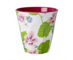 Melamin-Becher Two Tone with Blossom & Berries Print, groß