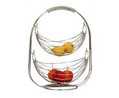 Designer Obstkorb Hängekorb Früchtekorb Etagere mit 2 Körben 44cm hoch