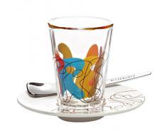 Ritzenhoff 2600013 Espressoglas mit Untertasse Marutschke F12