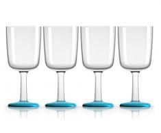 Palm 15393 Wein-Glas Marc Newson 300 ml, 4-er Set, Vivid blau