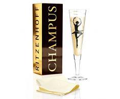 Ritzenhoff 1070228 Design Champagnerglas, Sektglas mit Stoffserviette, Andrea Vecera, Herbst 2015