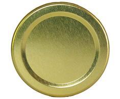 HAUSWIRT 32 Stück X 135ml Einmachgläser • Einkochgläser mit Schraubdeckel to 53 mm Gold • 16, 32, 64, 92 Stück • Große Auswahl Verschiedene Größen und Farben