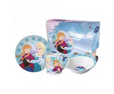 Disney Frozen die Eiskönigin Geschirr Frühstück-Set Kindergeschirr Set 3 teilig aus Keramik / Porzellan