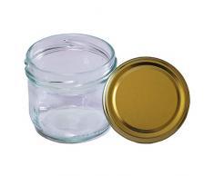 HAUSWIRT 30 Stück X 120ml Einmachgläser • Einkochgläser mit Schraubdeckel to 66 mm Gold • 15, 30, 45 • Große Auswahl Verschiedene Größen und Farben