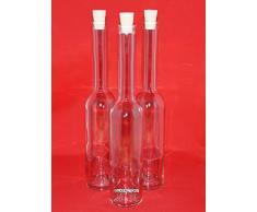 12 leere Glasflaschen 100ml Likörflaschen Schnapsflaschen OPI-SPI 0,1 Liter Essigflaschen Ölflaschen Höhe 19 cm, von slkfactory