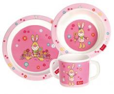Sigikid Melamin Kindergeschirr Set 3tlg - Bungee Bunny rosa