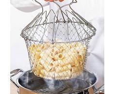 Decdeal Faltbar Seiher Kochsieb Küchensieb Bratkorb aus Edelstahl