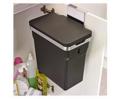 simplehuman Schrank-Abfalleimer 10 Liter, verchromter Stahlrahmen mit Kunststoffeimer [NPR]