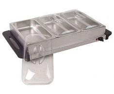 Elektrische Warmhalteplatte, Tellerwärmer + Bain Marie Aufsatz mit Luft statt Wasser