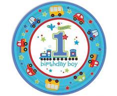 8 Teller * BIRTHDAY BOY * für den ersten Geburtstag // Kindergeburtstag Jungen