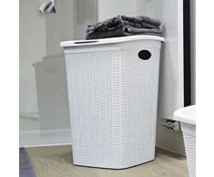 Stefanplast 30050 Wäschekorb mit praktischem Klappdeckel und Fassungsvermögen, 50 L