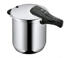 WMF Perfect Schnellkochtopf 8,5l, Schnelltopf 22 cm, Cromargan Edelstahl poliert, Induktion, 2 Kochstufen, Einhand-Kochstufenregler