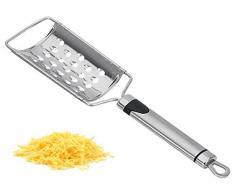Edelstahl Parmesanreibe - Käsereibe - Käse Reibe - Hobel - Gemüsereibe - Raspel - Parmesan - Küchenreibe - Handreibe